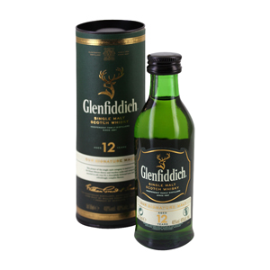 Mignonnette Whisky Glenfiddich single malt 12 ans 5 cl 40°