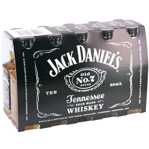 Box 10 mignonnettes Whiskey Jack Daniel's 5 cl 40°