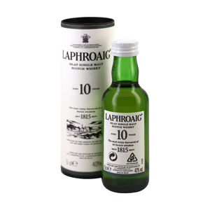 Mignonnette Islay single malt scotch whisky LAPHROAIG 10 Ans 5 cl 40°