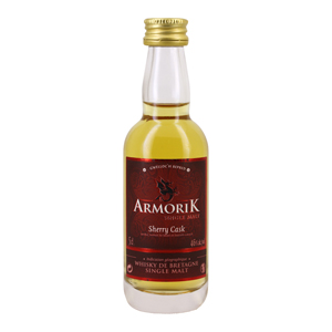 Mignonnette whisky Armorik Sherry cask single malt 5 cl 46°