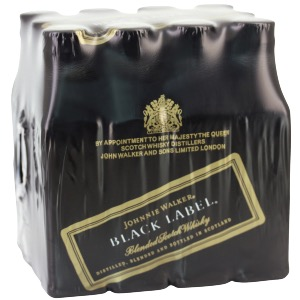 Box 12 mignonnettes de Whisky Johnnie Walker black label 12 ans 5 cl 40°