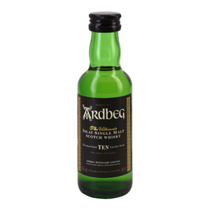 Mignonnette Islay single malt scotch whisky ARDBEG 10 Ans 5 cl 46°
