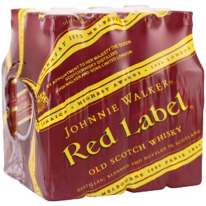 Box 12 mignonnettes de Whisky Johnnie Walker red label 5 cl 40°